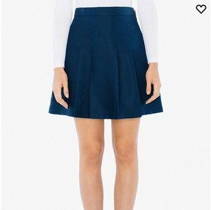 Gabardine School Pleated Skirt